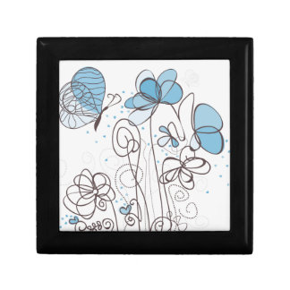 Blue flower gift box