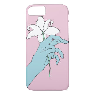 Blue Flower Hand iPhone 7 Case