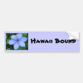 Blue flower Hawaii Bound Bumper Sticker