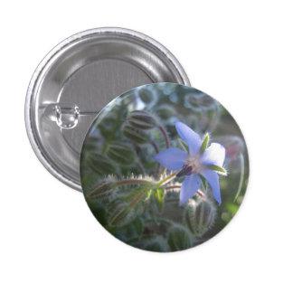 Blue Flower Haze 1 Inch Round Button