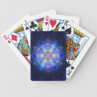 Blue Flower Mandala Fractal Bicycle Playing Cards