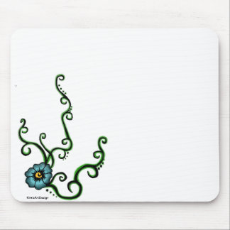Blue Flower Mouse Pad