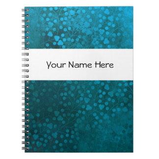 Blue Flower Notebook