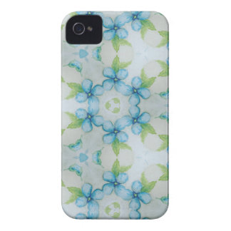 blue flower  Pansy pattern iPhone 4 Covers