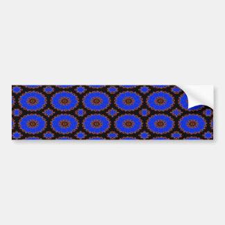 blue flower pattern bumper sticker