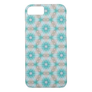 Blue flower pattern iPhone case