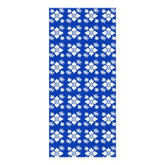 Blue flower pattern rack cards