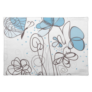 Blue flower placemat