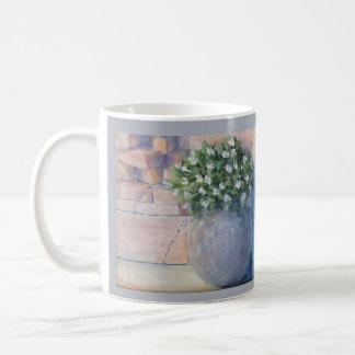 Blue Flower Pot Coffee Mug