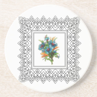blue flower power coasters