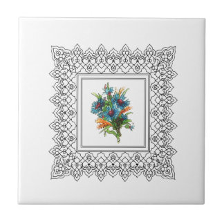 blue flower power tile