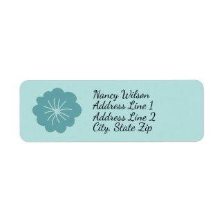 Blue Flower Return Address Label Garden Party