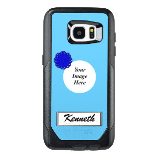 Blue Flower Ribbon Template by Kenneth Yoncich OtterBox Samsung Galaxy S7 Edge Case