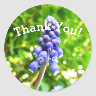 Blue Flower Thank You Stickers