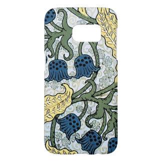 Blue Flower Vintage Nouveau Samsung Galaxy S7 Case