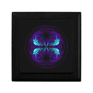Blue flowered globe abstract gift box