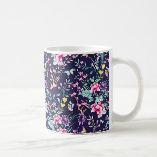 Blue flowered Mug