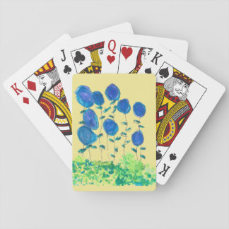 Blue Flowerl Playing Cards