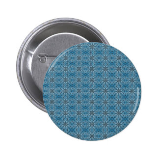 Blue Flowers 2 Inch Round Button