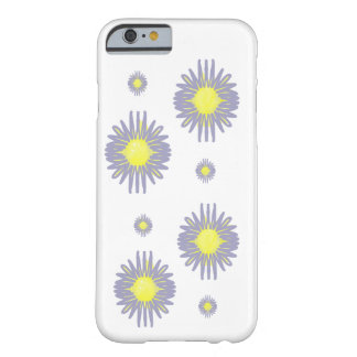 Blue flowers 2 large 2 small yellow pattern barely there iPhone 6 case