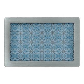 Blue Flowers Belt Buckle