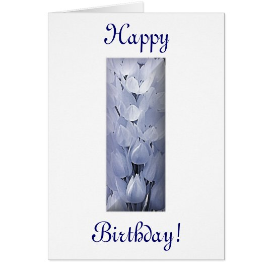 Blue Flowers Birthday Card