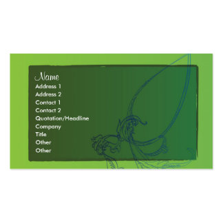 Blue Flowers Business Card Templates
