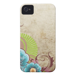 Blue Flowers Case-Mate iPhone 4 Cases