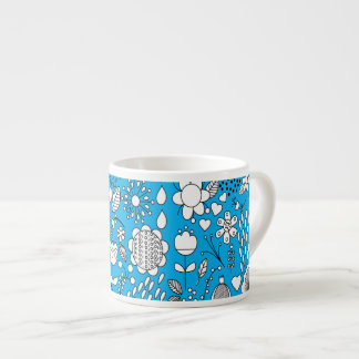 Blue Flowers Espresso Cup