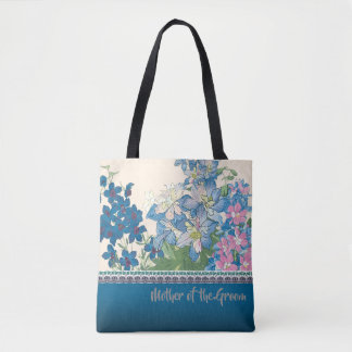Blue Flowers Favorite Bridesmaid Gift Tote Bag