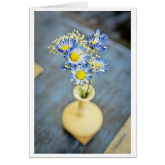 Blue Flowers in a Vase Card