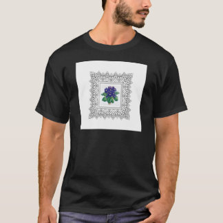 blue flowers in cube T-Shirt