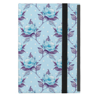 Blue flowers iPad mini case