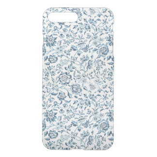 Blue Flowers iPhone X/8/7 Plus Clear Case