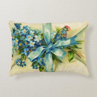 Blue Flowers Letter Decorative Pillow