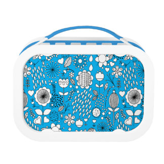Blue Flowers Lunch Box