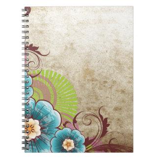 Blue Flowers Notebooks