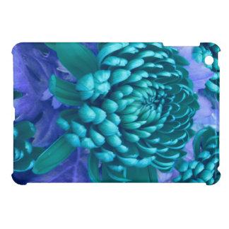 Blue flowers on purple field iPad mini cases