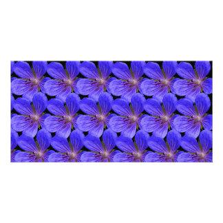 Blue flowers photo card