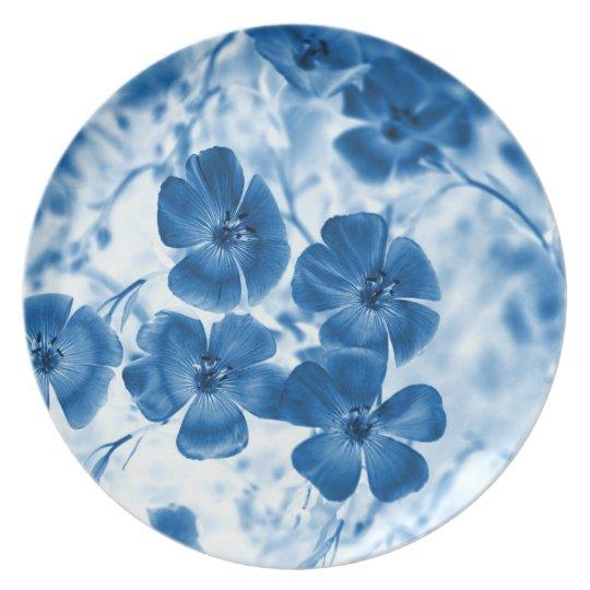 Blue flowers plate