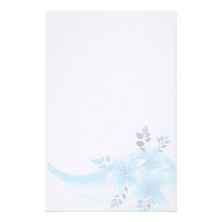 Blue Flowers Stationery