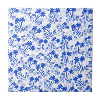 Blue Flowers Tile