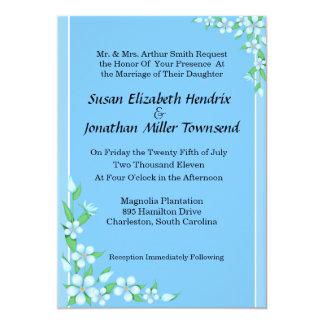 Blue Flowers Wedding Invitations