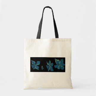Blue Flowers With Mermaid Tote Bag