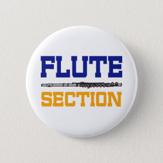 Blue Flute Section 2 Inch Round Button