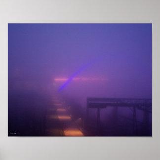 Blue Fog in Nashville Poster
