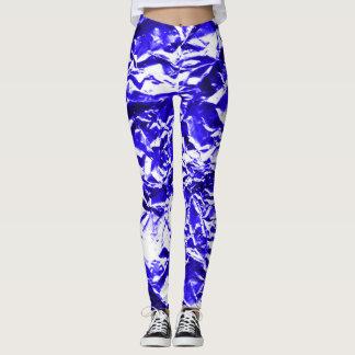 Blue Foil #1 Leggings