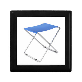 Blue folding stool gift box