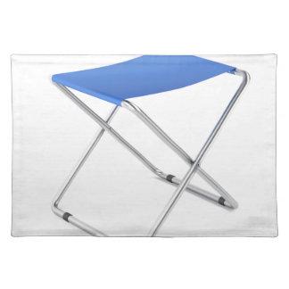 Blue folding stool placemat