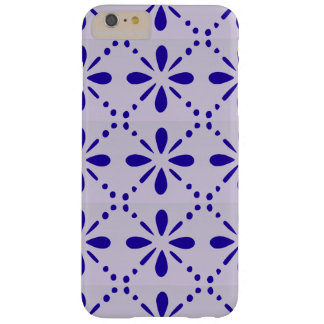 Blue Folk Art Flower Pattern Barely There iPhone 6 Plus Case